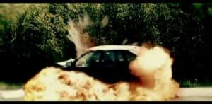Cascade : explosion d'un véhicule