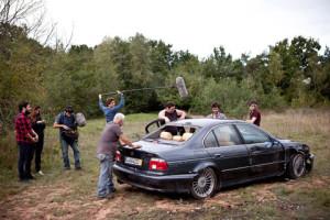 """Cascade sur le tournage de """"Mange tes morts"""""""