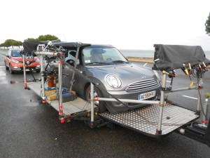 """Voiture travelling loadeur sur le tournage de """"Souviens-toi"""""""