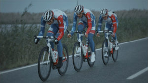 Cycliste Arnaud Démare au sprint
